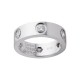 Mejor cartier love Oro blanco anillo falso con 6 diamantes