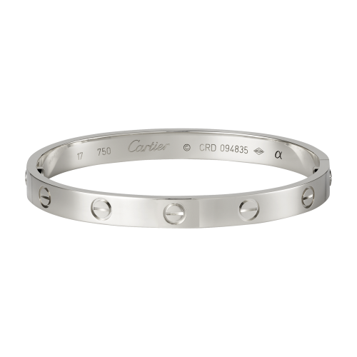 Bonne qualité bracelet or blanc love cartier replique B6035416