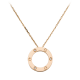 AAA cartier love pink gold pendant fake with 3 diamonds