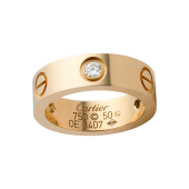 Best cartier love yellow gold ring fake with 3 diamonds