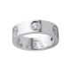 Best cartier love white gold ring copy with 3 diamonds
