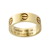 Le meilleur bague or jaune love cartier replique B4084600
