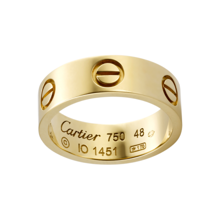 Best cartier love yellow gold ring replica B4084600