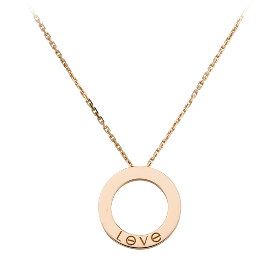 AAA cartier love pink gold pendant replica B7014400 - Click Image to Close