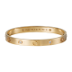 Good quality cartier love pink gold bracelet fake with 4 Diamonds