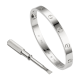 Good quality cartier love white gold bracelet replica B6035416