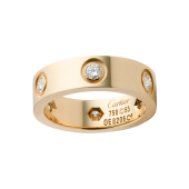 Le meilleur bague or jaune love cartier imitation avec 6 diamants