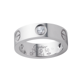 Le meilleur bague or blanc love cartier copie avec 3 diamants