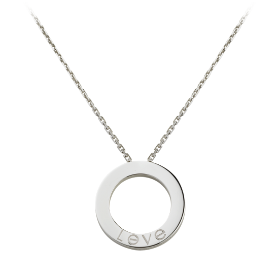 AAA cartier love white gold pendant fake with 3 diamonds - Click Image to Close