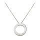 AAA cartier love white gold pendant fake with 3 diamonds