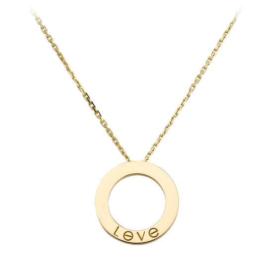 AAA cartier love yellow gold pendant fake with 3 diamonds - Click Image to Close