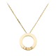 AAA cartier love yellow gold pendant fake with 3 diamonds
